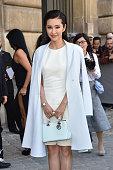 Li Bingbing arrives at Dior Fashion Show during Paris Fashion Week Womenswear SS 2015 on September 26 2014 in Paris France