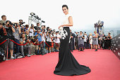 Li Bingbing arrives at the worldwide premiere screening of 'Transformers Age of Extinction'at the on June 19 2014 in Hong Kong Hong Kong