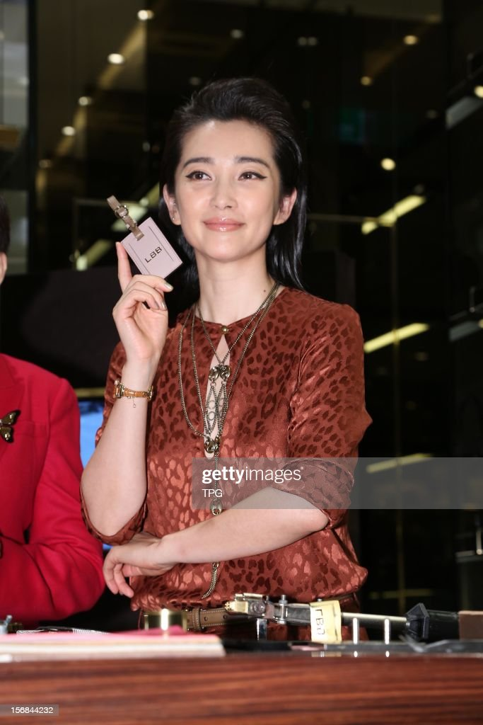Li Bingbing attended Gucci opening press conference on Thursday November 22, 2012 in Taipei, Taiwan, China.