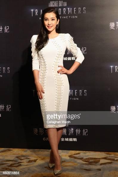 Li Bingbing attends the photo call for the worldwide premiere screening of 'Transformers Age of Extinction' on June 20 2014 in Hong Kong Hong Kong