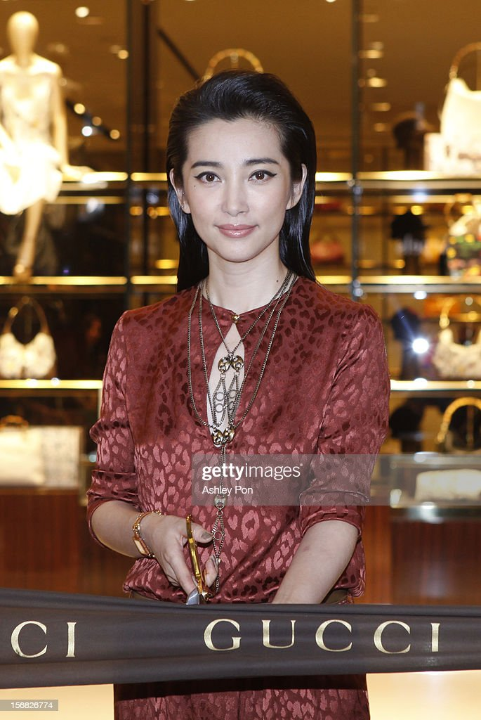 Li Bingbing attends the ribbon cutting at the Gucci Flagship store opening at Taipei101 on November 22, 2012 in Taipei, Taiwan.