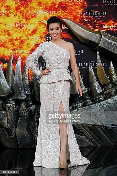 Li Bingbing attends the 'Transformers Age of Extinction' Berlin Premiere on June 29 2014 in Berlin Germany