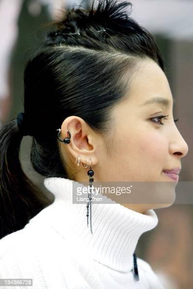 Li Bingbing during Lu Yi Promotes New Drama in Hangzhou October 9 2003 in Hangzhou Zhejiang China