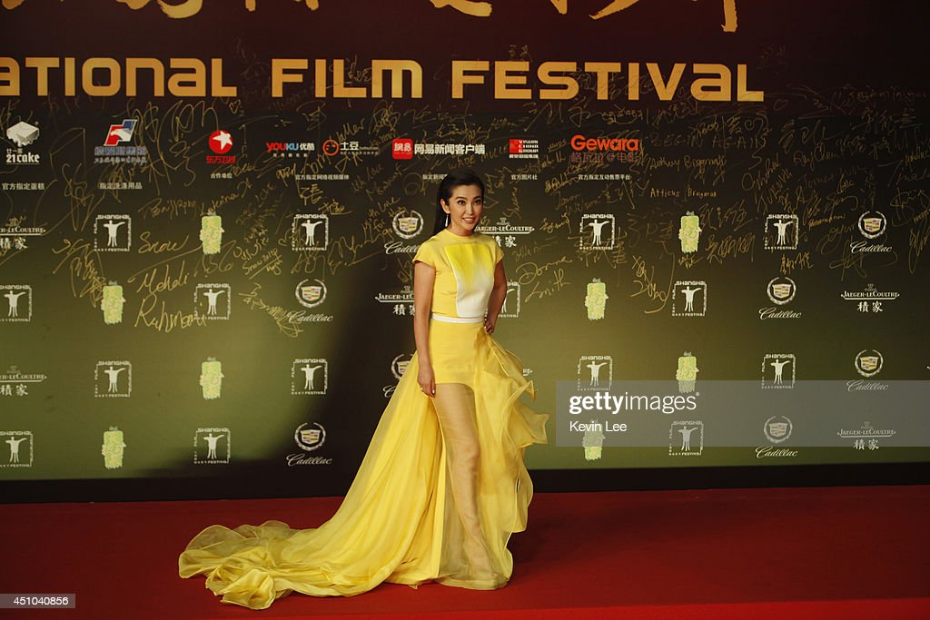 <a gi-track='captionPersonalityLinkClicked' href=/galleries/search?phrase=Li+Bingbing&family=editorial&specificpeople=697017 ng-click='$event.stopPropagation()'>Li Bingbing</a> poses for a picture at the Shanghai premiere of 'Transformers' on June 22, 2014 in Shanghai, China.