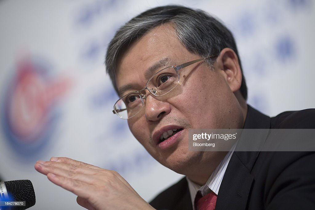 Li Fanrong, chief executive officer of Cnooc Ltd., gestures while speaking during a news conference in Hong Kong, China, on Friday, March 22, 2013. Cnooc reported 2012 profit that missed analyst estimates as China's biggest offshore oil producer spent more to explore and revive stalled output growth. Photographer: Jerome Favre/Bloomberg via Getty Images