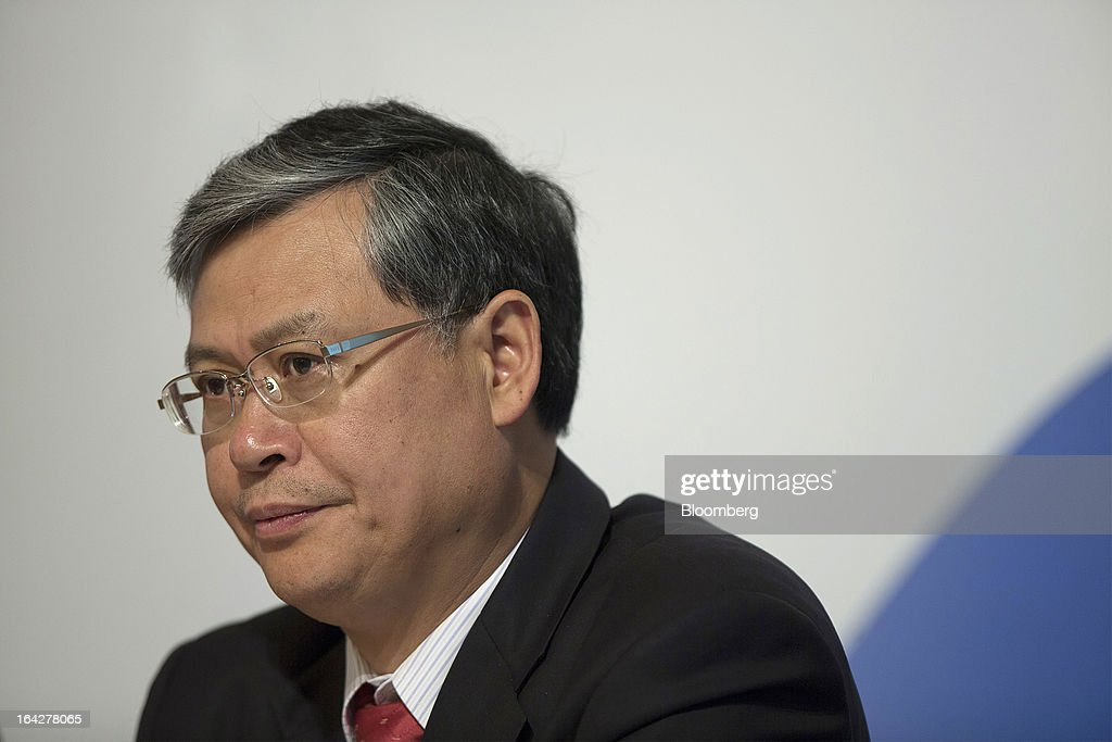 Li Fanrong, chief executive officer of Cnooc Ltd., pauses during a news conference in Hong Kong, China, on Friday, March 22, 2013. Cnooc reported 2012 profit that missed analyst estimates as China's biggest offshore oil producer spent more to explore and revive stalled output growth. Photographer: Jerome Favre/Bloomberg via Getty Images