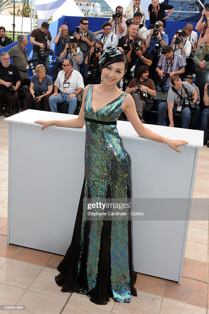 Li Feier at the Photocall for 'Chongqing Blues' during the 63rd Cannes International Film Festival.