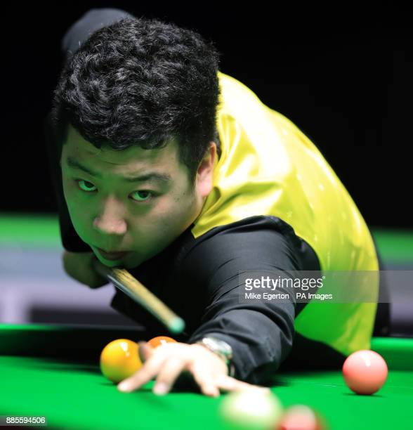 Li Hang during his match with Scott Donaldson on day seven of the 2017 Betway UK Championships at the York Barbican PRESS ASSOCIATION Photo Picture...