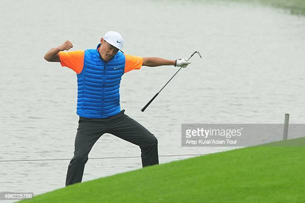 Li Haotong of China pictured during the final round of the WGC HSBC Champions at Sheshan International Golf Club on November 8 2015 in Shanghai China