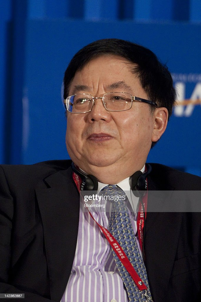 Li Jiange, chairman of China International Capital Corp., attends a session at the Boao Forum for Asia in Boao, Hainan Province, China, on Tuesday, April 3, 2012. The Boao Forum ends today. Photographer: Nelson Ching/Bloomberg via Getty Images