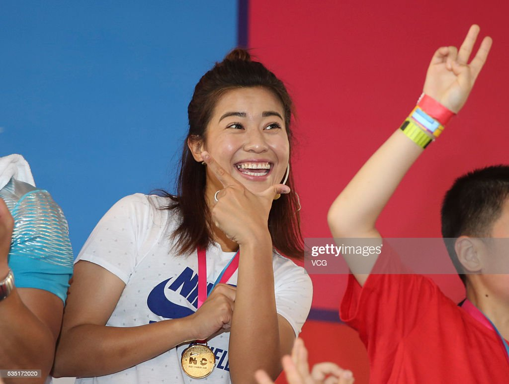 <a gi-track='captionPersonalityLinkClicked' href=/galleries/search?phrase=Li+Jiayue&family=editorial&specificpeople=9440786 ng-click='$event.stopPropagation()'>Li Jiayue</a>, a Chinese football defender who plays on the China women's national football team, attends a children's Day activity of Nike on May 29, 2016 in Shanghai, China.