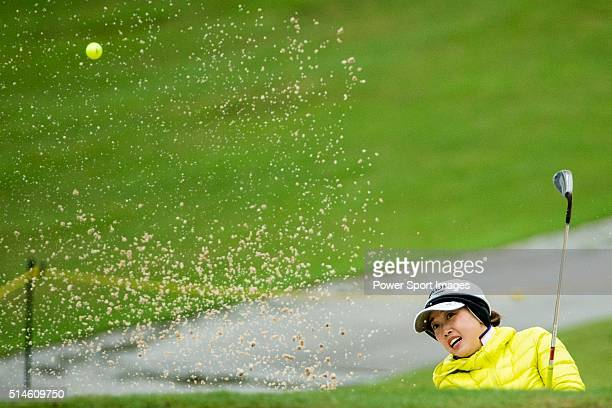 Li Jiayun of China plays during Round 1 of the World Ladies Championship 2016 on 10 March 2016 at Mission Hills Olazabal Golf Course in Dongguan China