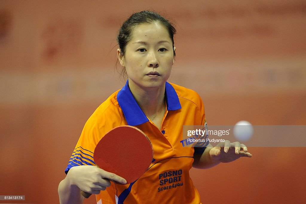 <a gi-track='captionPersonalityLinkClicked' href=/galleries/search?phrase=Li+Jie+-+Table+Tennis+Player&family=editorial&specificpeople=12783702 ng-click='$event.stopPropagation()'>Li Jie</a> of Netherlands competes against Liu Jia of Austria during the 2016 World Table Tennis Championship Women's Team Division round 16 match at Malawati Stadium on March 3, 2016 in Shah Alam, Malaysia.