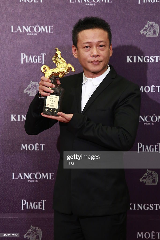 Li Kangsheng wins Best Leading Actor at the 50th Golden Horse Awards on Saturday November 23,2013 in Taipei,China.