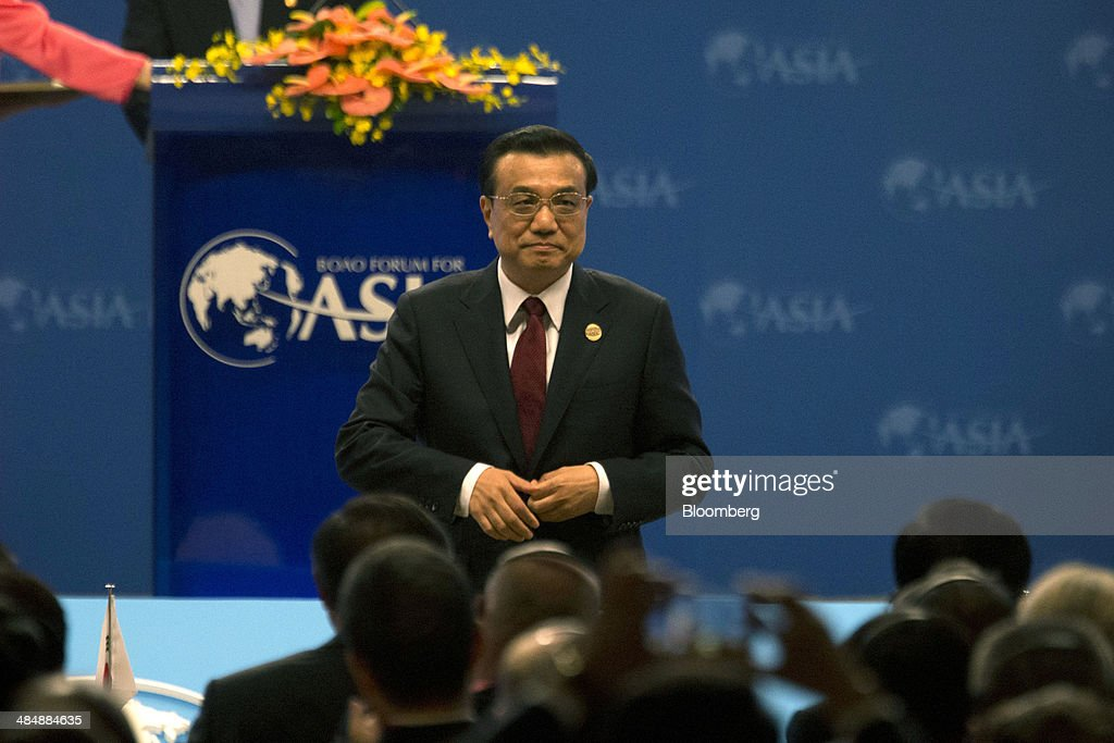 <a gi-track='captionPersonalityLinkClicked' href=/galleries/search?phrase=Li+Keqiang&family=editorial&specificpeople=2481781 ng-click='$event.stopPropagation()'>Li Keqiang</a>, China's premier, attends the Boao Forum for Asia in Boao, Hainan, China, on Thursday, April 10, 2014. Li said China plans to connect the stock exchanges of Hong Kong and Shanghai as part of efforts to expand the nation's capital markets. Photographer: Brent Lewin/Bloomberg via Getty Images