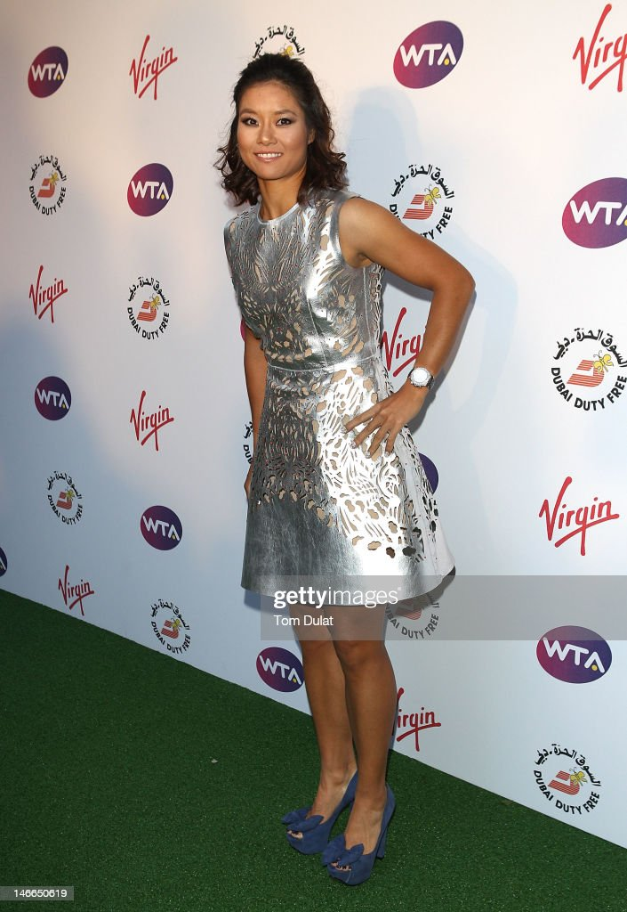 Li Na arrives at the WTA Tour Pre-Wimbledon Party at The Roof Gardens, Kensington on June 21, 2012 in London, England.