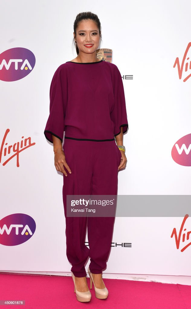 Li Na attends the WTA PreWimbledon party at Kensington Roof Gardens on June 19 2014 in London England