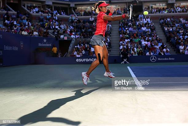 Li Na China in action against Serena Williams USA during the Women's Singles Semi Final at the US Open Flushing New York USA 6th September 2013 Photo...