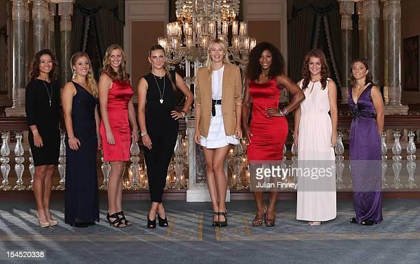 Li Na of China Angelique Kerber of Germany Petra Kvitova of Czech Republic Victoria Azarenka of Belarus Maria Sharapova of Russia Serena Williams of...