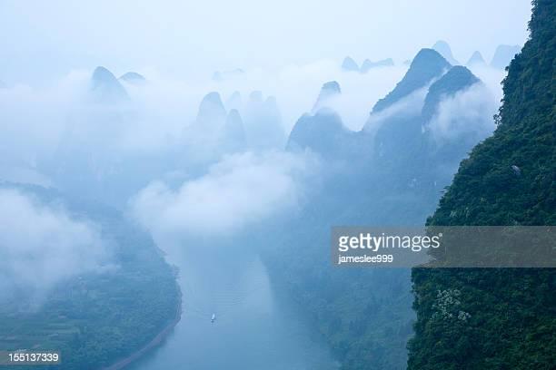 Rivière Li à l'aube
