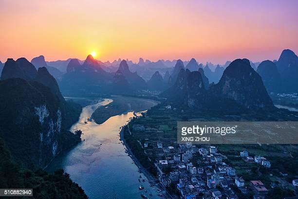 Li river at the top of Mt.Laozhai