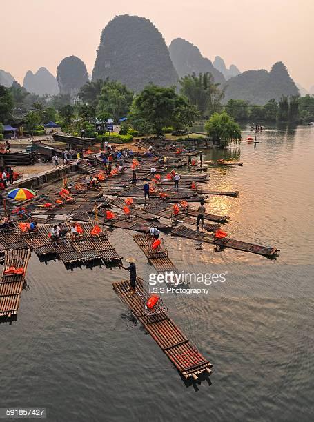Li River Bamboo Raft dock - Yangshuo, China 2