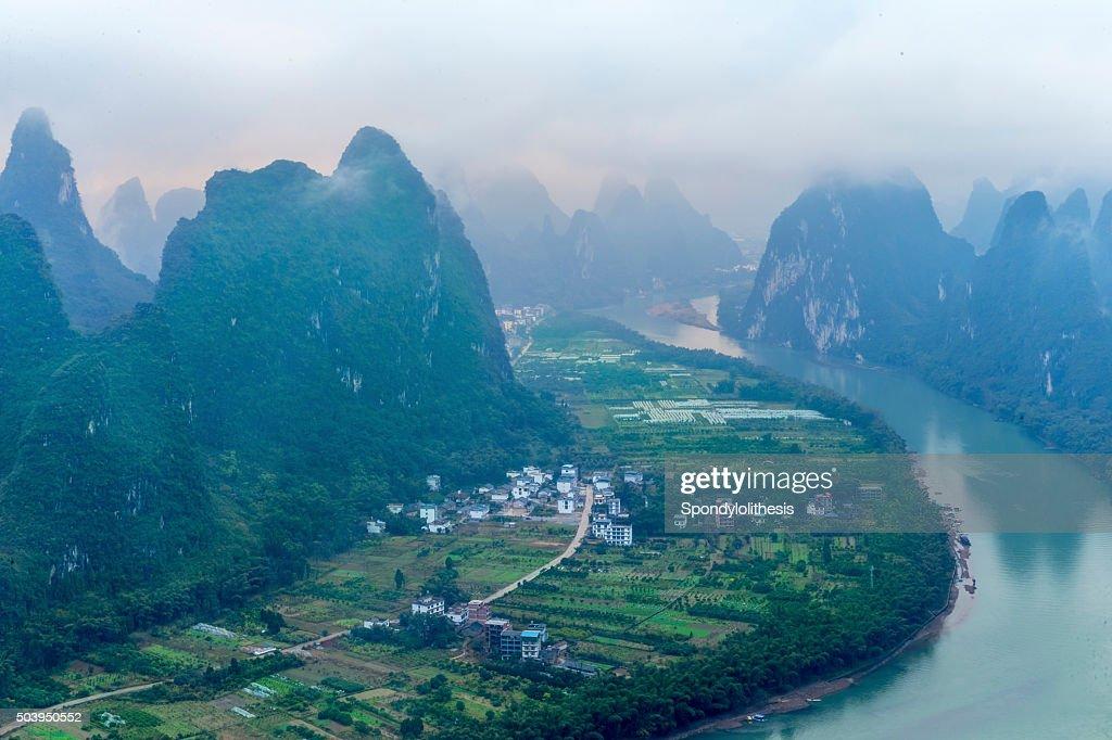 Li River Landscape at GuanXi of China