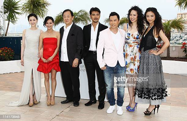 Li Xiao Ran Kara Hui Jimmy Wang Yu Takeshi Kaneshiro Donnie Yen Cecilia Cissy Wang and Tang Wei attend the 'Wu Xia' Photocall at the Palais des...