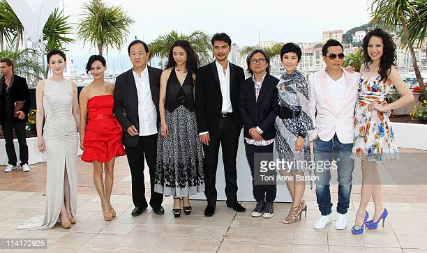 Li Xiao Ran Kara Hui Jimmy Wang Yu Tang Wei Takeshi Kaneshiro Peter Chan Sandra Ng Kwan Yu Donnie Yen and guest attend the 'Wu Xia' Photocall during...