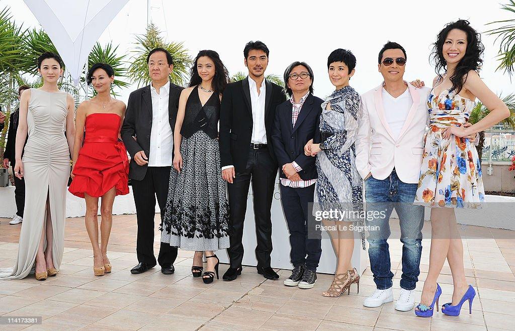 Li Xiao Ran Kara Hui Jimmy Wang Yu Tang Wei Takeshi Kaneshiro Peter Chan Sandra Ng Kwan Yu Donnie Yen and guest attend the 'Wu Xia' Photocall at the...
