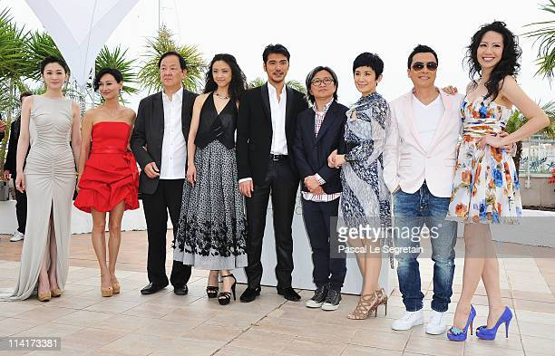 Li Xiao Ran Kara Hui Jimmy Wang Yu Tang Wei Takeshi Kaneshiro Peter Chan Sandra Ng Kwan Yu Donnie Yen and guest attend the 'Wu Xia' Photocall at the...