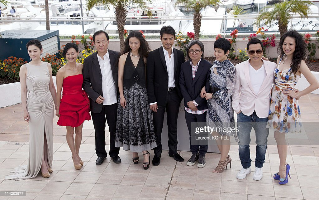 Li Xiao Ran, Kara Hui, Jimmy Wang Yu, Tang Wei, Takeshi Kaneshiro, Peter Chan, Sandra Ng Kwan Yu, Donnie Yen and guest attend the 'Wu Xia' Photocall at the Palais des Festivals during the 64th Cannes Film Festival on May 14, 2011 in Cannes, France.