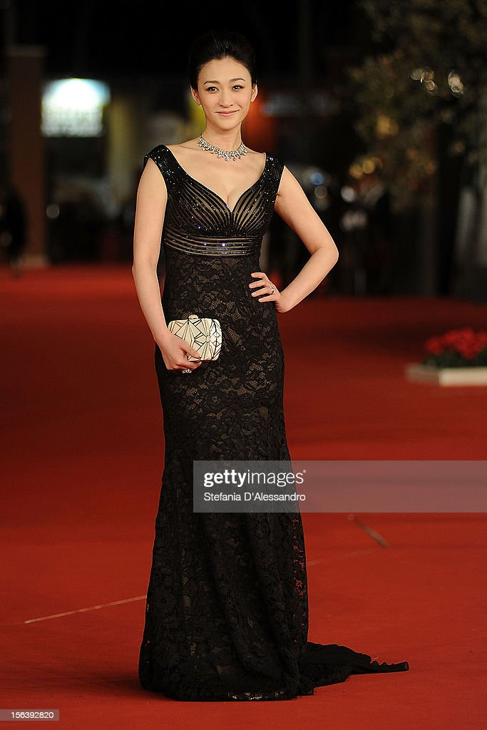 Li Xiaoran attends 'Bullet To The Head' Premiere at Auditorium Parco Della Musica on November 14, 2012 in Rome, Italy.