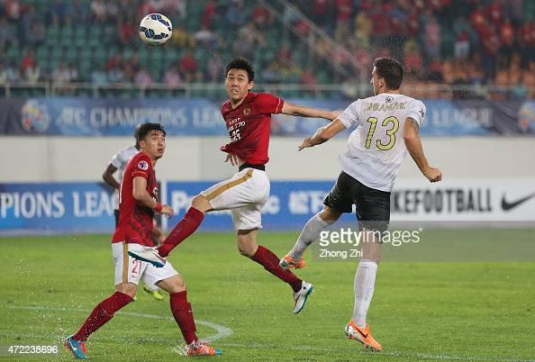 Li Xuepeng of Guangzhou Evergrande in action during the AFC Asian Champions League match between Guangzhou Guangzhou Evergrande and Western Sydney...
