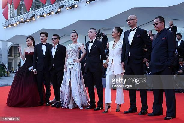 Li Yifeng Liu Hua Jing Liang director Guan Hu and actors Xu Qing Feng Xiaogang and Zhang Yuxian attend the closing ceremony and premiere of 'Lao Pao...