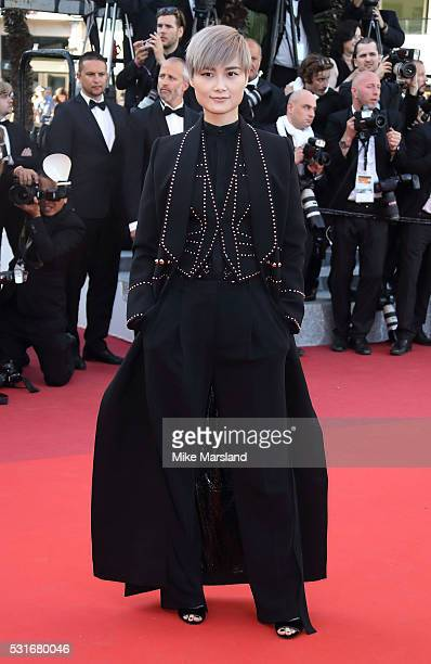 Li Yuchun aka Chris Lee attend the 'From The Land Of The Moon ' premiere during the 69th annual Cannes Film Festival at the Palais des Festivals on...