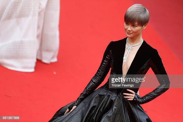 Li Yuchun AKA Chris Lee attends 'The BFG ' premiere during the 69th annual Cannes Film Festival at the Palais des Festivals on May 14 2016 in Cannes...
