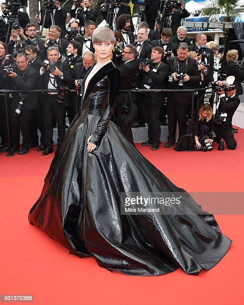 Li Yuchun aka Chris Lee attends the 'The BFG ' premiere during the 69th annual Cannes Film Festival at the Palais des Festivals on May 14 2016 in...