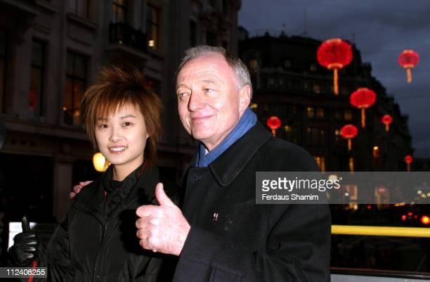 Li Yuchun and Ken Livingstone during Li Yuchun Launches 'China in London 2006' with Ken Livingstone at Regent Street in London Great Britain