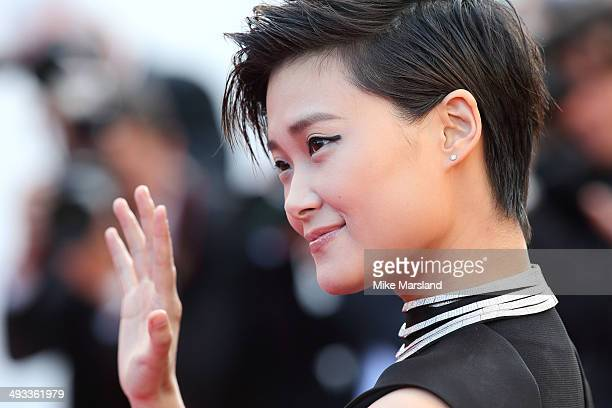 Li Yuchun attends the 'Clouds Of Sils Maria' Premiere at the 67th Annual Cannes Film Festival on May 23 2014 in Cannes France