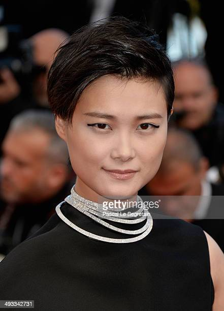 Li Yuchun attends the 'Clouds Of Sils Maria' premiere during the 67th Annual Cannes Film Festival on May 23 2014 in Cannes France