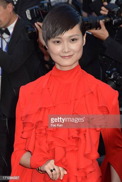 Li Yuchun attends the Premiere of 'Behind the Candelabra' during the 66th Annual Cannes Film Festival at Palais des Festivals on May 21 2013 in...