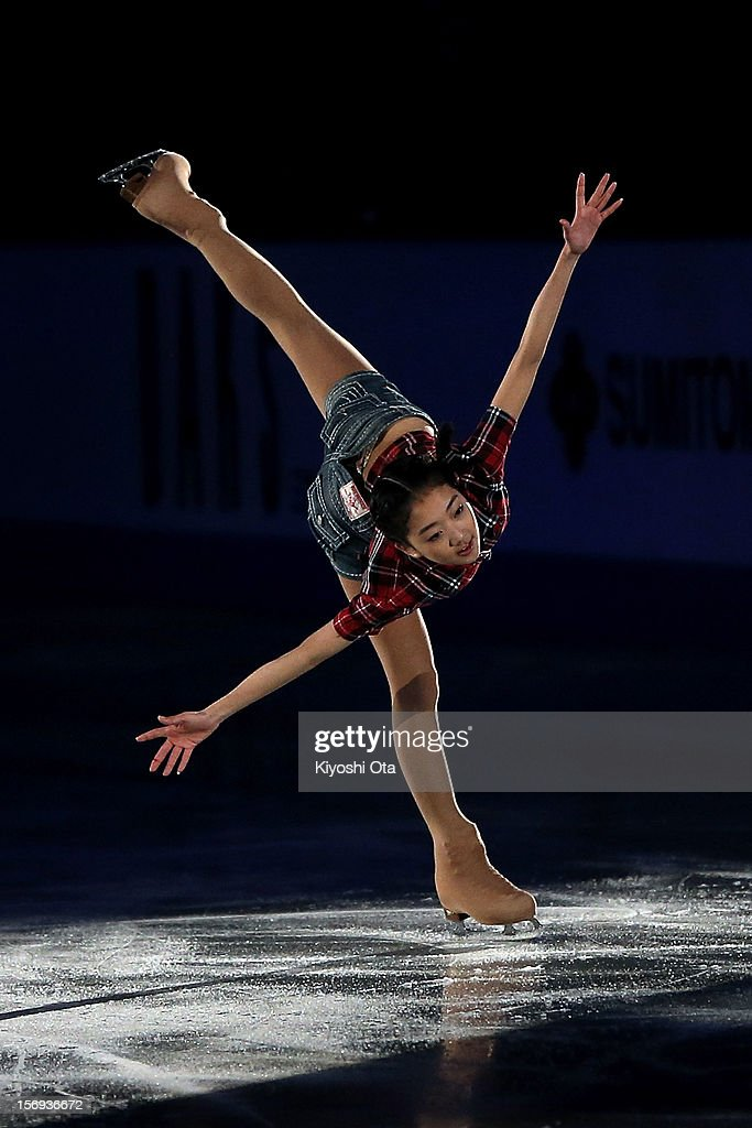 Li Zijun of China performs in the Gala Exhibition during day three of the ISU Grand Prix of Figure Skating NHK Trophy at Sekisui Heim Super Arena on November 25, 2012 in Rifu, Japan.
