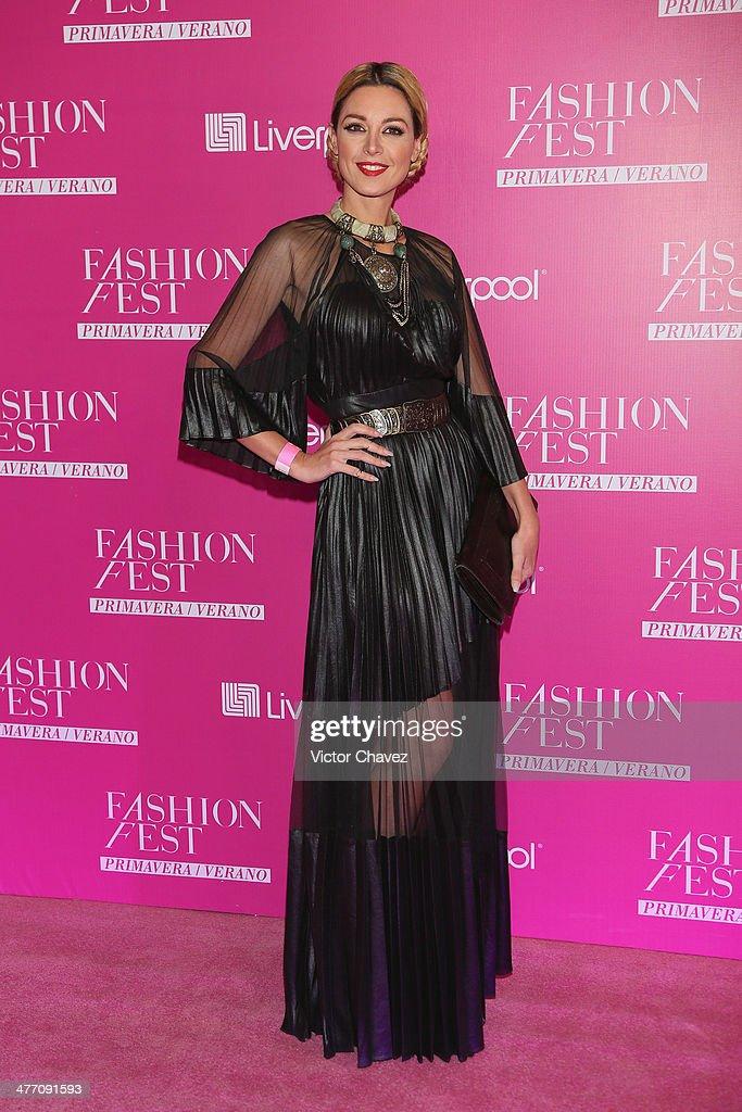 Lia Ferre attends the Liverpool Fashion Fest Spring/Summer 2014 at Hipodromo de las Americas on March 6, 2014 in Mexico City, Mexico.