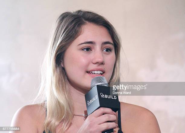 Lia Marie Johnson appears to discuss 'Tagged' during the AOL BUILD Series at AOL HQ on July 19 2016 in New York City