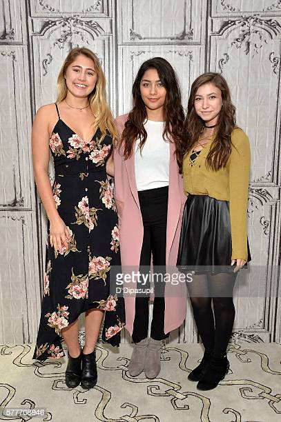 Lia Marie Johnson Lulu Antariksa and Katelyn Nacon attend the AOL Build Speaker Series to discuss go90's 11part thriller 'T@gged' at AOL HQ on July...