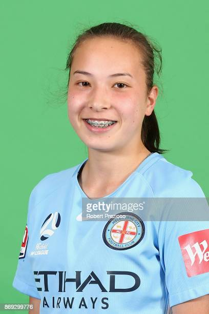 Lia Muldeary poses during the Melbourne City WLeague headshots session on November 2 2017 in Melbourne Australia