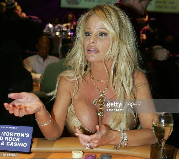 Lia Neil wife of Motley Crue singer Vince Neil plays in the inaugural Vince Neil 'Off the Strip' Texas Hold 'Em Poker Tournament at the Hard Rock...