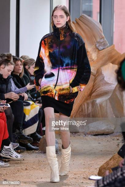 Lia Pavlova walks the runway at Lacoste show during New York Fashion Week on February 11 2017 in New York City