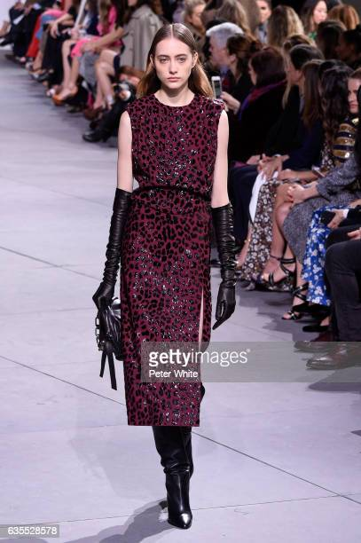 Lia Pavlova walks the runway at the Michael Kors Collection Fall 2017 show at Spring Studios on at Spring Studios on February 15 2017 in New York City